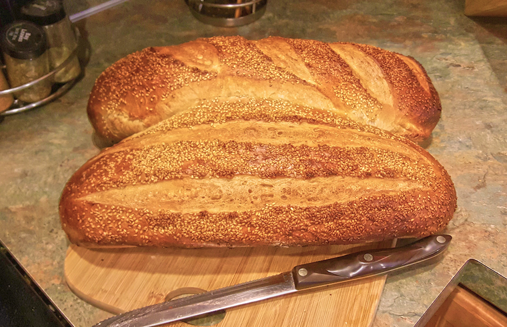 Homemade white bread – Italian loaves