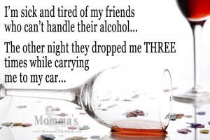 Friends don't drop friends…