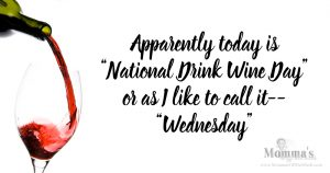 National Drink Wine Day'